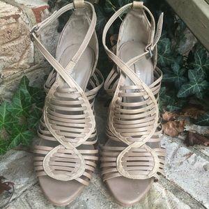 Zara high heels size 9 color nude